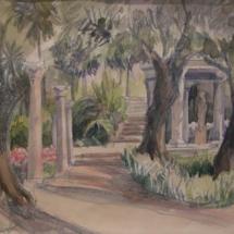 temple bas ,jardins Ephrussi