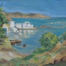 village de Mandraka,55X33, gouache aquarelle