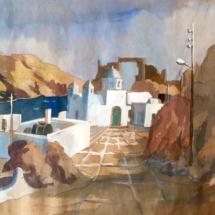 MILOS, ADAMA.aquarelle gouachée, 20x30