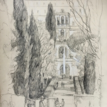 perspective villa d'Este, Tivoli